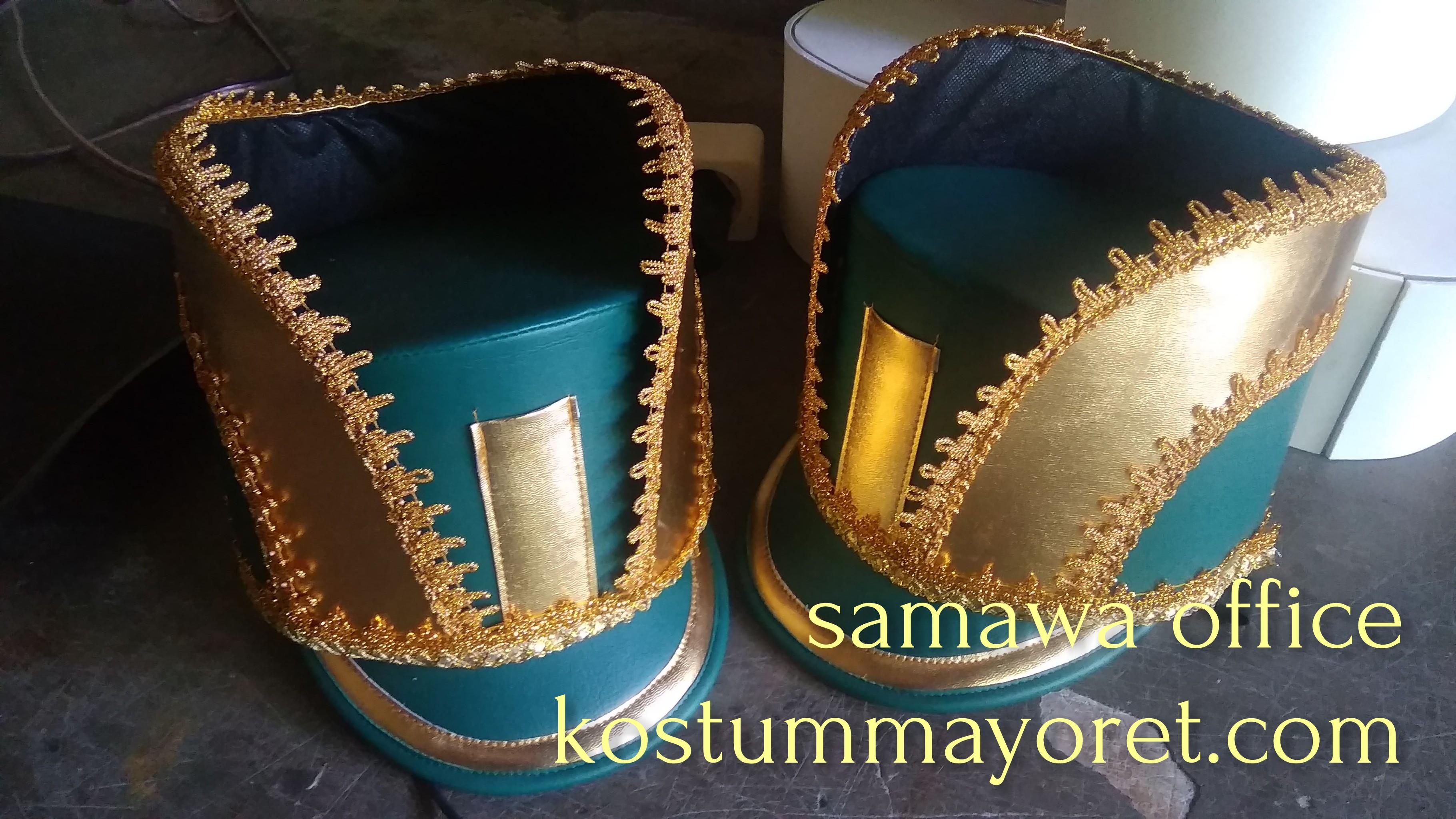 topi mayoret hijau gold