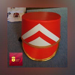 topi drumband warna merah putih