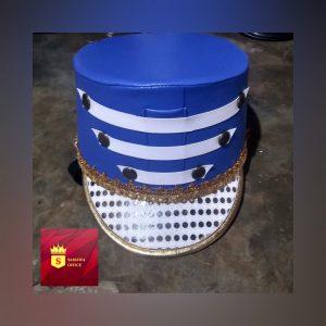 topi drumband payet putih