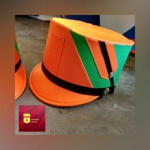 topi drumband anak sd